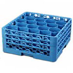 Carlisle RW20-214 Full-Size Dishwasher Glass Rack, 20-compartment, NSF, Blue