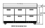 Delfield STD4472N 72-in Work Top Refrigerator w/ 6-Drawers & Splash, 4.0 cu ft