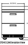 Delfield STD4532N 32-in Work Top Freezer w/ 2-Drawers & Splash, 2.7 cu ft
