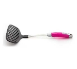 Zeroll 8503-PF Nylon Large Slotted Turner w/ Ergonomic Handle, Pink Flamingo