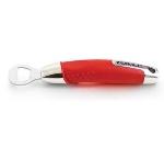 Zeroll 8778-AR Stainless Bottle Opener w/ Ergonomic Handle, Apple Red