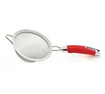 Zeroll 8820-AR 6-in Stainless Strainer w/ Ergonomic Handle, Apple Red