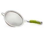 Zeroll 8821-LG 8-in Stainless Strainer w/ Ergonomic Handle, Lime Green