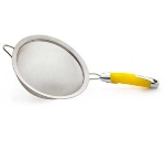 Zeroll 8821-LY 8-in Stainless Strainer w/ Ergonomic Handle, Lemon Yellow