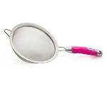 Zeroll 8821-PF 8-in Stainless Strainer w/ Ergonomic Handle, Pink Flamingo
