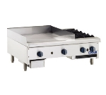 Royal Range RMG-12OB2 LP 24-in Griddle & Hotplate w/ 12 x .75-in Plate & 2-Open Burners, LP