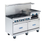 Royal Range RR-2G48 NG 60-in Range w/ 2-Standard Ovens & 48-in Griddle, 2-Burners, NG