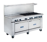 Royal Range RR-2G60 LP 72-in Range w/ 2-Standard Ovens & 60-in Griddle, 2-Burners, LP