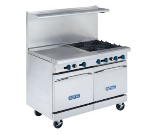 Royal Range RR-G48 NG 48-in Range w/ 2-Space Saver Oven & 48-in Griddle, 5/8-in Plate, NG