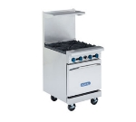 Royal Range RR-G24 LP 24-in Range w/ Space Saver Oven & 24-in Griddle, 5/8-in Plate, LP