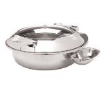Cook-Tek UCG01 6.5-Liter Round Chafer Dish w/ Drip Channel Funnels, Stainless
