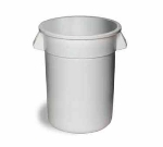 Continental Commercial 1001WH General Purpose Trash Can w/ 10-Gallon Capacity, White