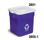 Continental Commercial 2801WH Square Lid For Model 2800 Huskee Trash Cans, 22 x 22-in, White