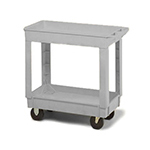 Continental Commercial 5805GY Utility Cart w/ (2) 24 x 36-in Shelves, 400-lb Capacity, Grey