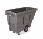 Continental Commercial 5839 BK 5/8-cu yd Utility Duty Tilt Truck w/ Open Top, 300-lbs, Grey