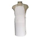 San Jamar 401BA Bib Apron w/ Adjustable Neck Tie, 25 x 24-in, White