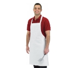 San Jamar 600BAW-NP Bib Apron, Poly/Cotton Blend, 34 x 36-in, White