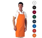 San Jamar 601NP-OR Twill Bib Apron, 30 x 34-in, Orange
