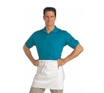 San Jamar 607HBA2-WH 1/2-Size Bistro Apron, Heavyweight 50/50 Twill, 28 x 19-in, White