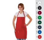 San Jamar 612BAFH-HG Bib Apron, 28 x 27-in, 3 Pocket, Adjustable Neckband, Navy Blue