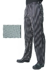 San Jamar P015HT-S Poly Cotton Chef Pants, Slim Fit, Small, Hounds Tooth
