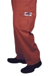 San Jamar P023CLT-4X Cotton Cargo Chef Pants, 4X, Claret