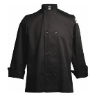 San Jamar J061BK-5X Traditional Chef's Jacket Size 5X, Black