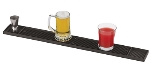 World Cuisine 44100-01 Skid Resistant Bar Runner, 3-1/8 x 26.75-in, Black