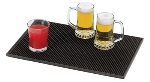 World Cuisine 44100-02 Skid Resistant Bar Mat, 5-7/8 x 5-7/8-in, Black