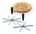 World Cuisine 42599-06 6-Wedge Pie Slicer w/ Plastic Handle, Round, Stainless Steel