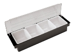 World Cuisine 44103-04 Bar Cocktail Container, 5-7/8 x 19.25 x 3.5-in, 4-Inserts