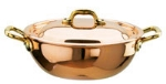 World Cuisine 45236-20 Vegetable Pan, 1-5/8-qt, Copper & Lined w/ Stainless Steel