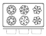 World Cuisine 47742-54 Snowflake Cake Mold, 2.75 x 1-3/8-in, Non Stick Silicone