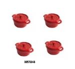 Staub 00573043 Enameled Ceramic Mini Round Cocotte w/ .25-qt Capacity, Orange