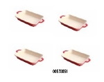 Staub 00573051 Enameled Ceramic Mini Rectangular Dish w/ .25-qt Capacity, Cherry