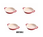 Staub 00573052 5-in Enameled Ceramic Mini Pie Dish, Cherry