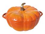 Staub 111 24 59 Enameled Cast Iron Pumpkin Cocotte, 3-1/2 qt, Orange