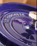 Staub 1123191 Enameled Cast Iron Coq Au Vin Cocotte, Oval, 5-3/4 qt, Dark Blue