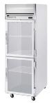 Beverage Air HR1-1HG Refrigerator, 2-Glass Half Doors, Stainless Front & Aluminum Interior, 24-cu ft