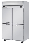 Beverage Air HFS2-1HS Freezer, 4-Solid Half Doors, Stainless Front & Interior, 49-cu ft