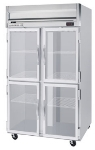 Beverage Air HFS2-1HG Freezer, 4-Glass Half Doors, Stainless Front & Interior, 49-cu ft