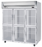 Beverage Air HFPS3-5HG Reach In Freezer w/ 6-Glass Half Doors, All Stainless, 74-cu ft