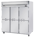 Beverage Air HFS3-5HS Freezer, 6-Solid Half Doors, Stainless Front & Interior, 74-cu ft