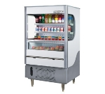 Beverage Air VM12-1-G 35-in Open-Air Merchandiser w/ Night Curtain, 12-cu ft, Gray