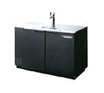 Beverage Air DD50-1-B 2-Keg Draft Beer Cooler w/ 1-Dual Faucet Column, Black