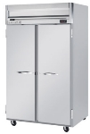 Beverage Air HR21S Reach In Refrigerator w/ 2-Section & 2-Solid Doors, 49-cu ft, Gray