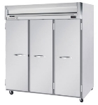 Beverage Air HR31S Reach In Refrigerator w/ 3-Section & 3-Solid Doors, 74-cu ft, Gray