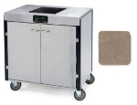 Lakeside 2060 BGESUE 35.5-in High Mobile Cooking Cart w/Induction Stove, Beige Suede