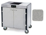 Lakeside 2060 GRSAN 35.5-in High Mobile Cooking Cart w/Induction Heat Stove, Gray Sand