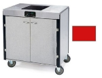 Lakeside 2060 RED 35.5-in High Mobile Cooking Cart w/Induction Heat Stove, Red